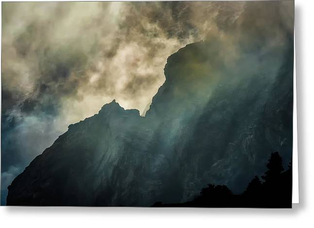 Stormy Wasatch- Rays Greeting Card