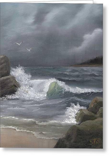 Stormy Waters Greeting Card by Sheri Keith