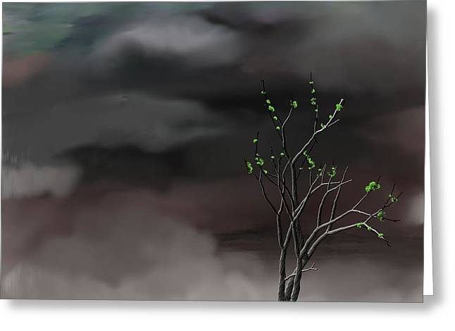 Stormy Weather Greeting Card by David Lane
