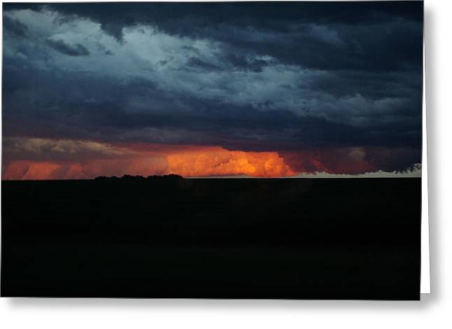 Stormy Weather Greeting Card by Kathy M Krause