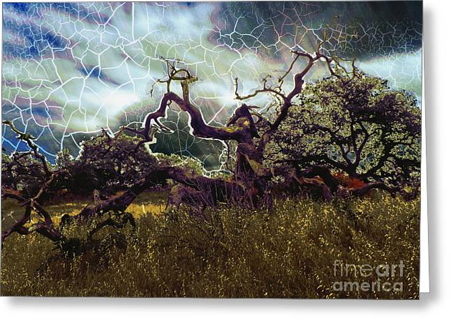Stormy Weather Greeting Card by Robert Ball