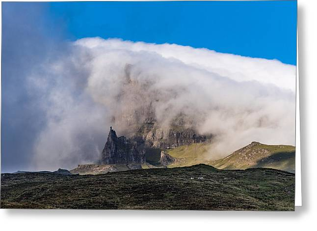 Storr In Cloud Greeting Card by Gary Eason