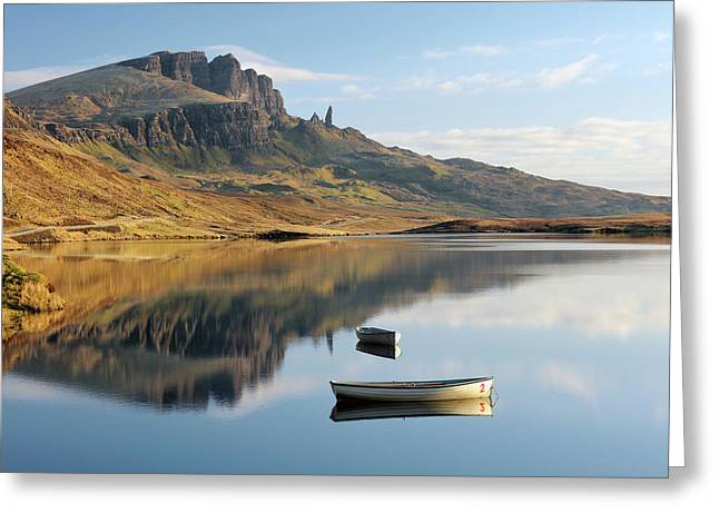 Greeting Card featuring the photograph Storr Reflection by Grant Glendinning