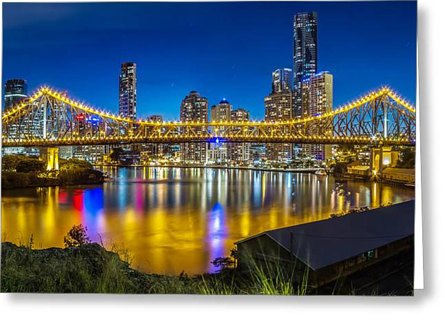 Story Bridge- Brisbane Queensland Greeting Card by Mark Lucey
