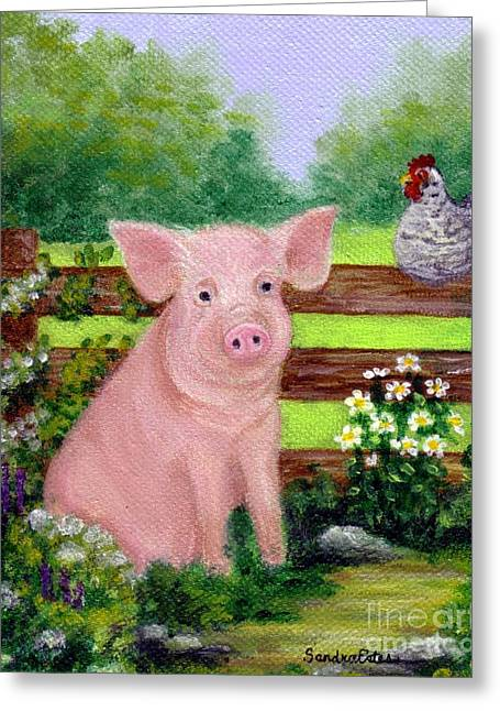Storybook Pig Greeting Card
