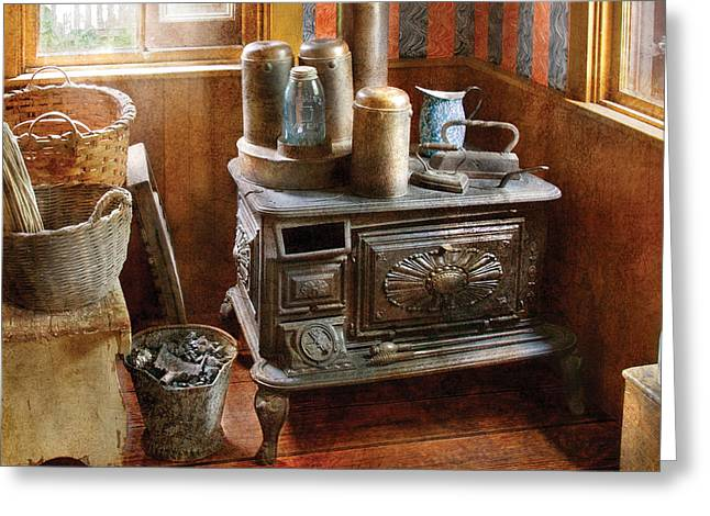 Stove - Remember The Good Ol Days When  Greeting Card by Mike Savad