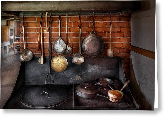 Stove - The Gourmet Chef  Greeting Card by Mike Savad