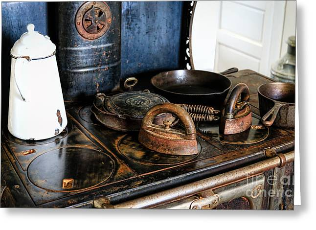 Stove Top Cooking Greeting Card