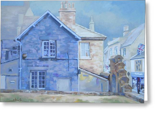 Stow On The Wold Greeting Card by Carol Strickland