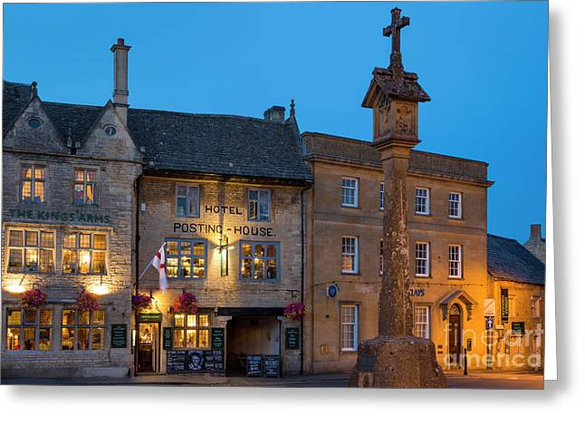 Greeting Card featuring the photograph Stow On The Wold - Twilight by Brian Jannsen