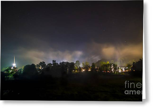 Stowe Vermont After Dark. Greeting Card