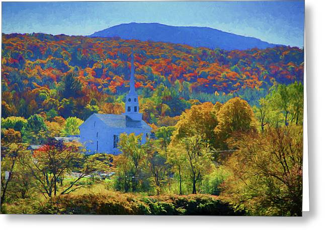 Stowe Vermont Church In Fall Greeting Card