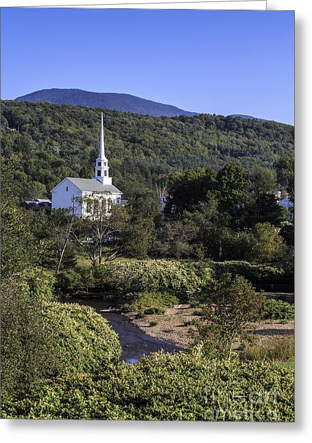 Stowe Vermont Greeting Card by Edward Fielding