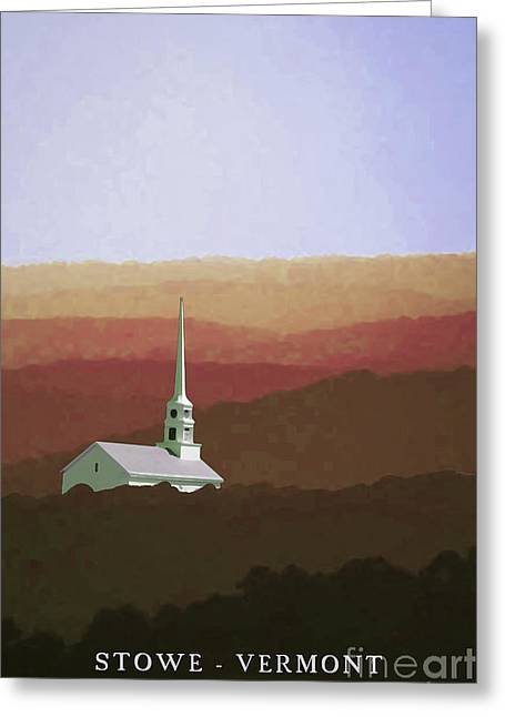 Stowe Vermont Fall Poster Greeting Card