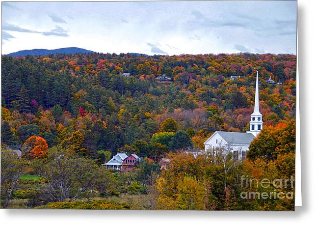 Stowe Vermont In Autumn Greeting Card by Catherine Sherman