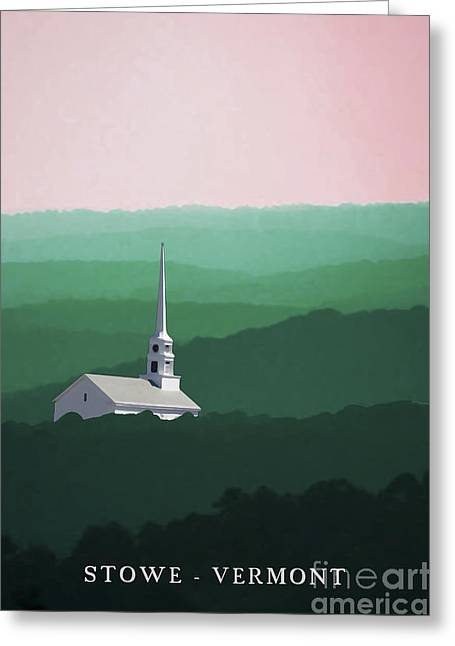 Stowe Vermont Summer Poster Greeting Card