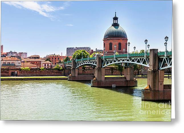 St.pierre Bridge In Toulouse Greeting Card