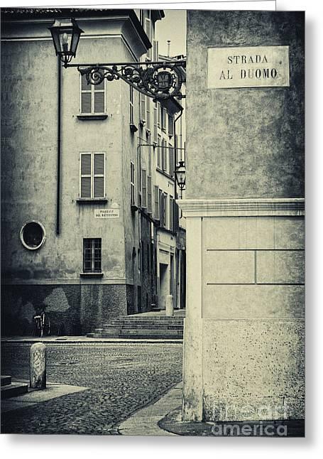 Strada Al Duomo - The Road To The Duomo Greeting Card by Silvia Ganora
