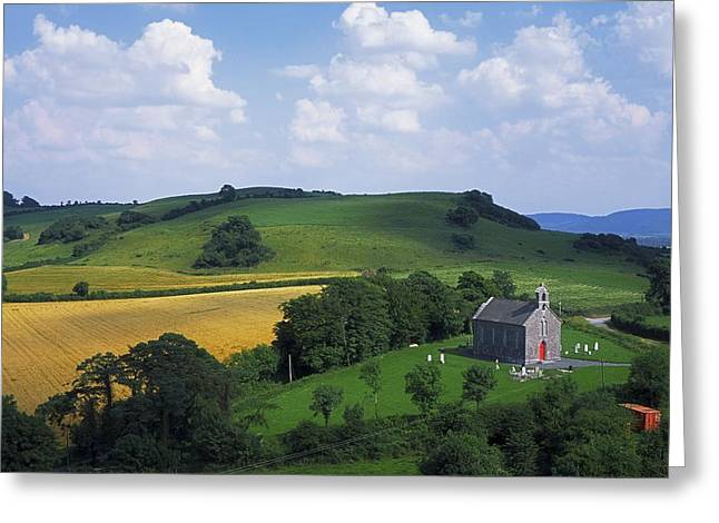 Place Of Burial Greeting Cards - Stradbally, Co Laois, Ireland Church Greeting Card by The Irish Image Collection