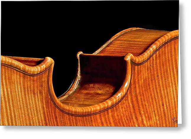 Stradivarius Back Corner Greeting Card by Endre Balogh