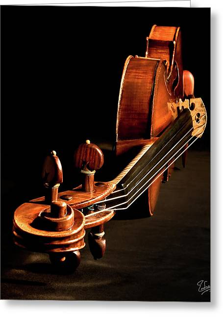 Stradivarius From The Top Greeting Card by Endre Balogh