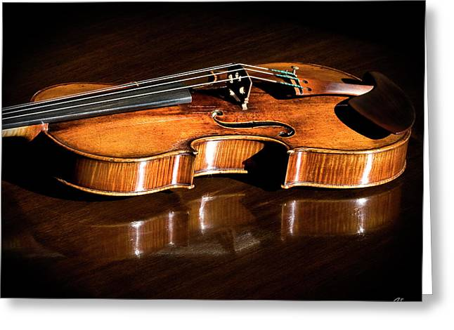 Stradivarius In Sunlight Greeting Card by Endre Balogh