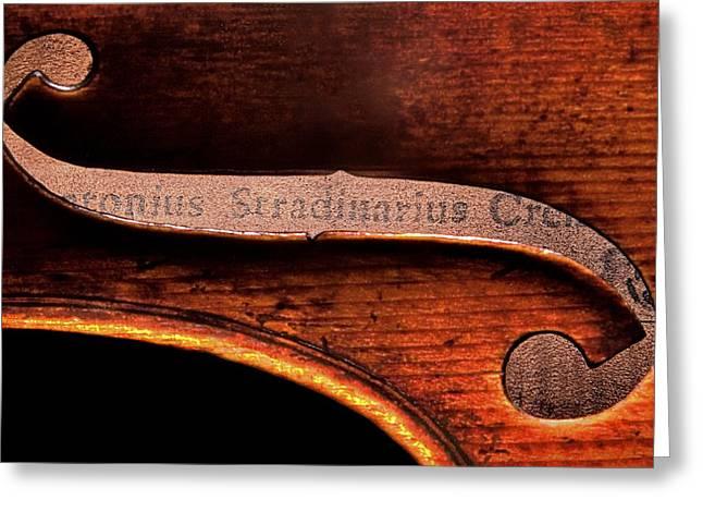 Stradivarius Label Greeting Card