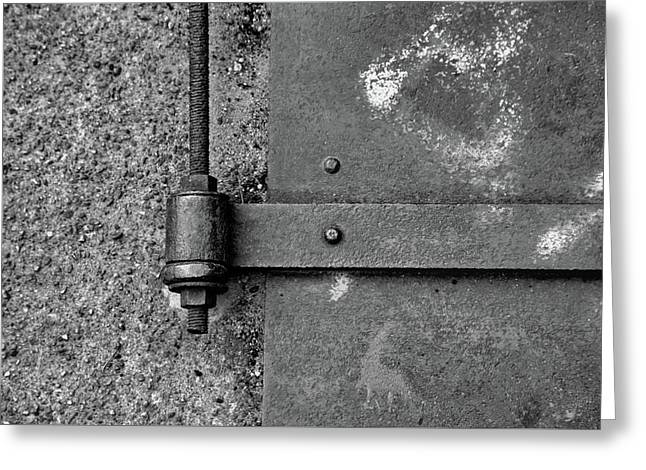 Greeting Card featuring the photograph Straight Metal by Karol Livote