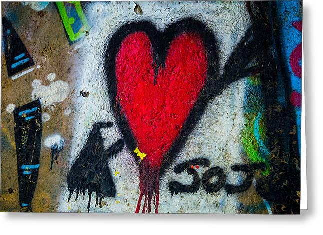 Straight Thru The Heart Greeting Card by Karol Livote