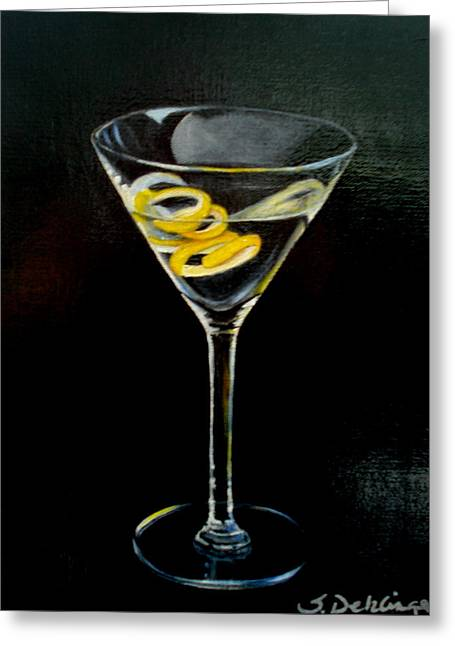 Straight Up And Twisted Greeting Card by Susan Dehlinger