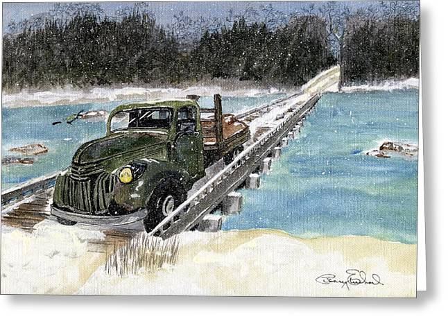 Stranded On Rockford Bridge Greeting Card by Penny Everhart