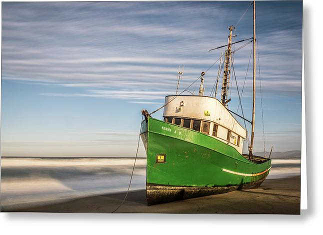 Stranded On The Beach Greeting Card by Jon Glaser