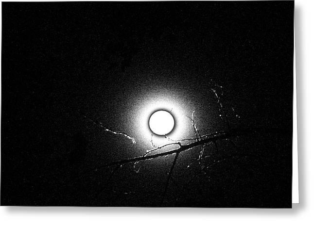Strange Moon Rising Utah Greeting Card by Ann Tracy