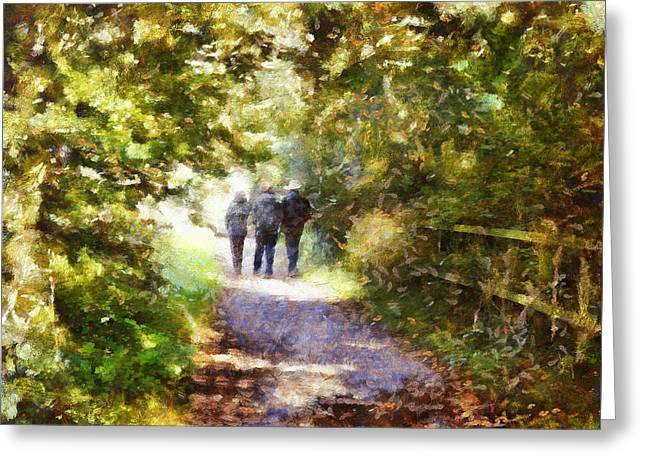 Strangers On A Footpath / In To The Light Greeting Card