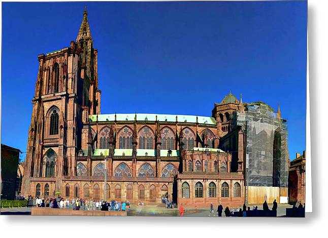 Strasbourg Catheral Greeting Card by Alan Toepfer