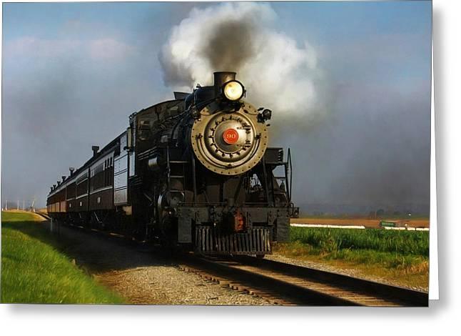 Strasburg Locomotive Greeting Card by Lori Deiter