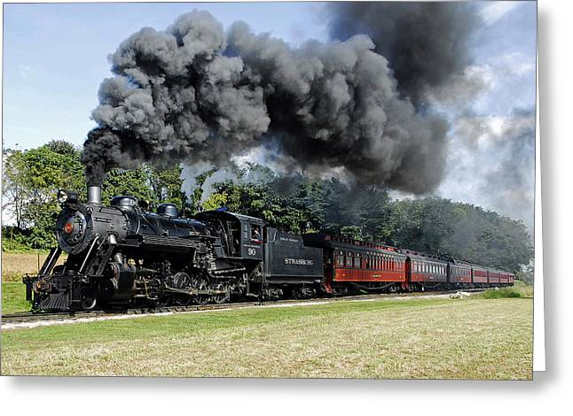 Strasburg Railroad Greeting Card by Dan Myers
