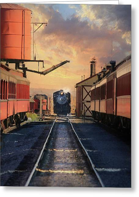 Greeting Card featuring the photograph Strasburg Railroad Station by Lori Deiter