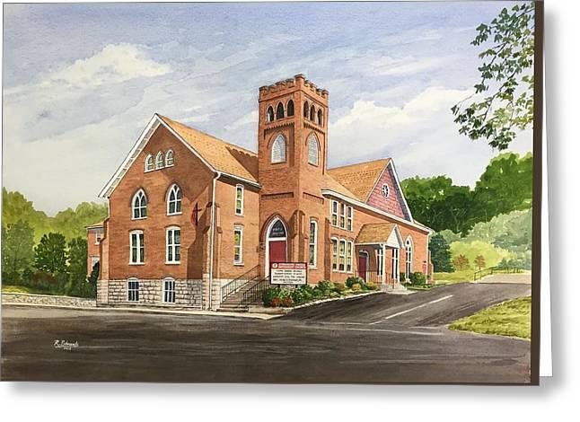 Strasburg United Methodist Church Greeting Card by Raymond Edmonds