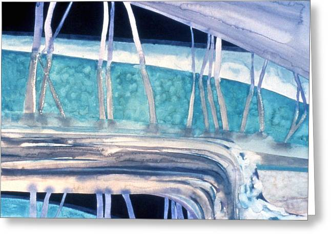 Strata - 3 Greeting Card by Caron Sloan Zuger