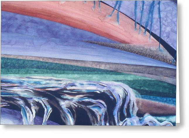 Strata - 5 Greeting Card by Caron Sloan Zuger