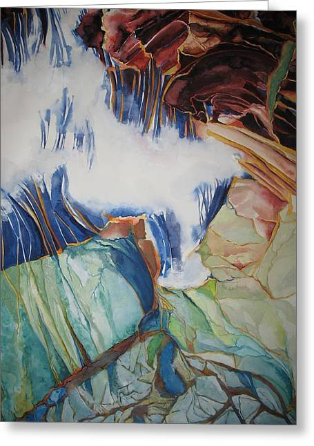 Strata - 8 Greeting Card by Caron Sloan Zuger