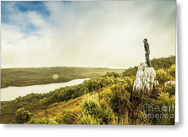 Strathgordon Tasmania Adventurer Greeting Card