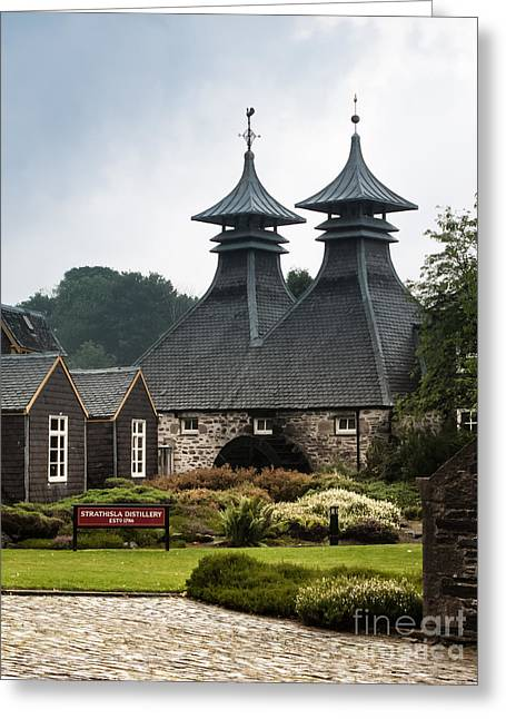Strathisla Whisky Distillery Scotland Greeting Card by Jan Bickerton