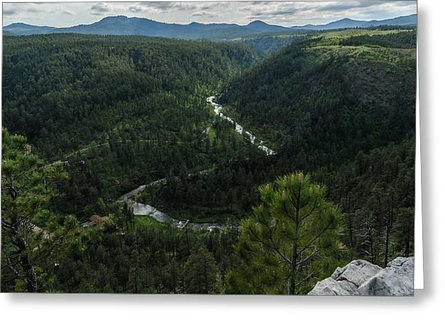 Stratobowl Overlook On Spring Creek Greeting Card