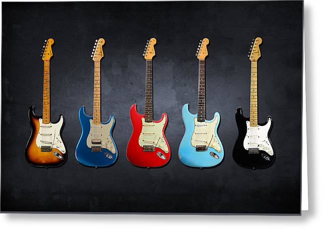 Stratocaster Greeting Card by Mark Rogan