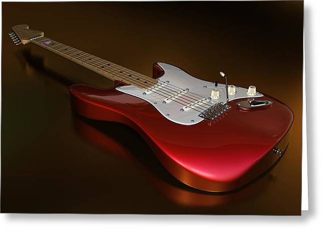 Stratocaster On A Golden Floor Greeting Card