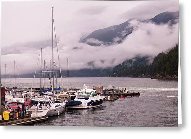 Stratus Clouds Over Horseshoe Bay Greeting Card