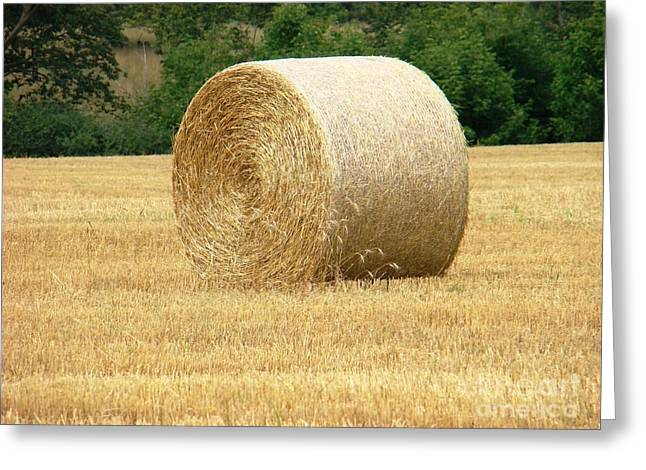 Straw Bale Greeting Card