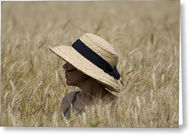 Straw Hat Greeting Card